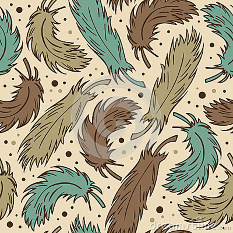 pattern with decorative feathers background vector