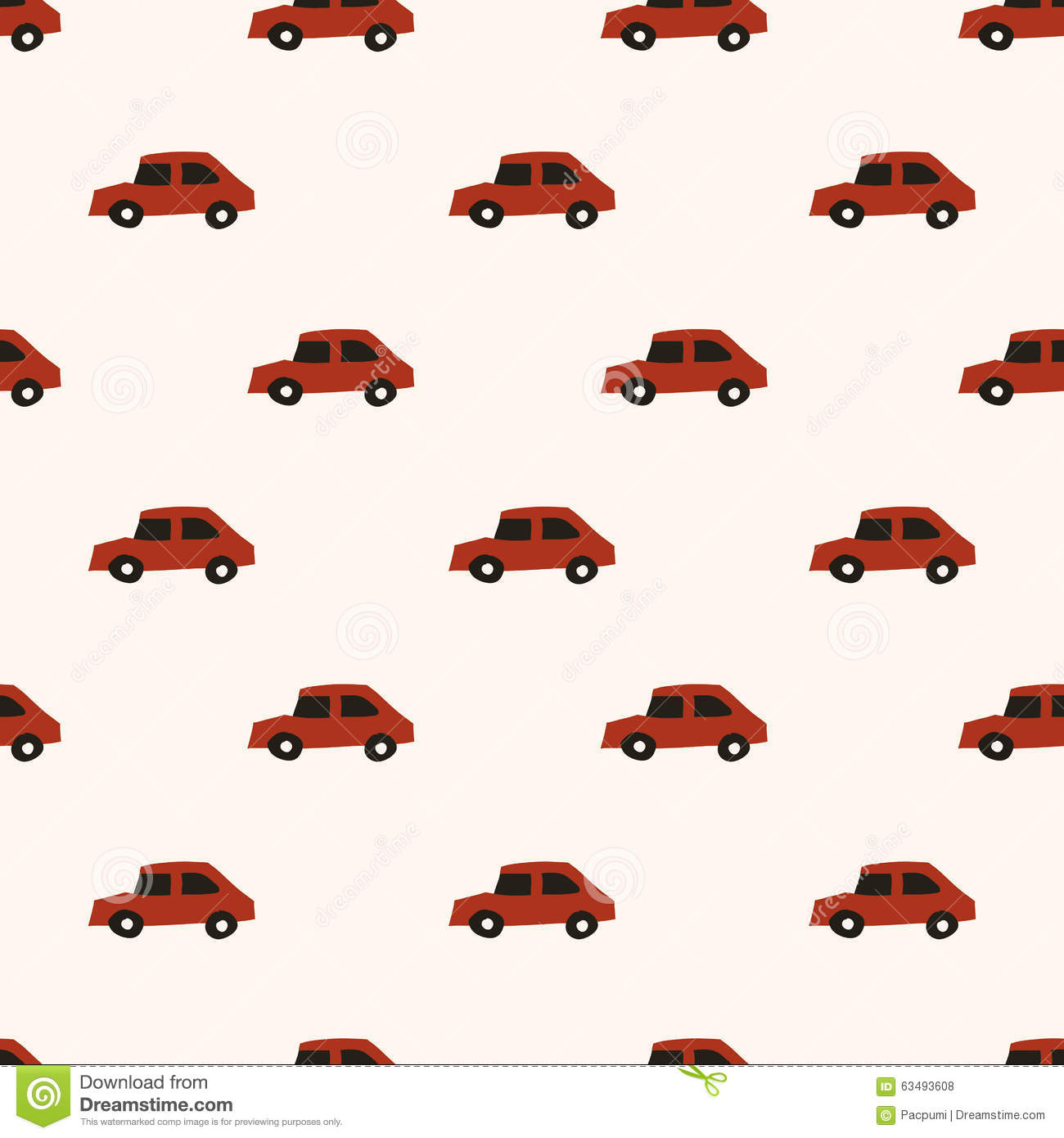 seamless cute car pattern stock illustration illustration of