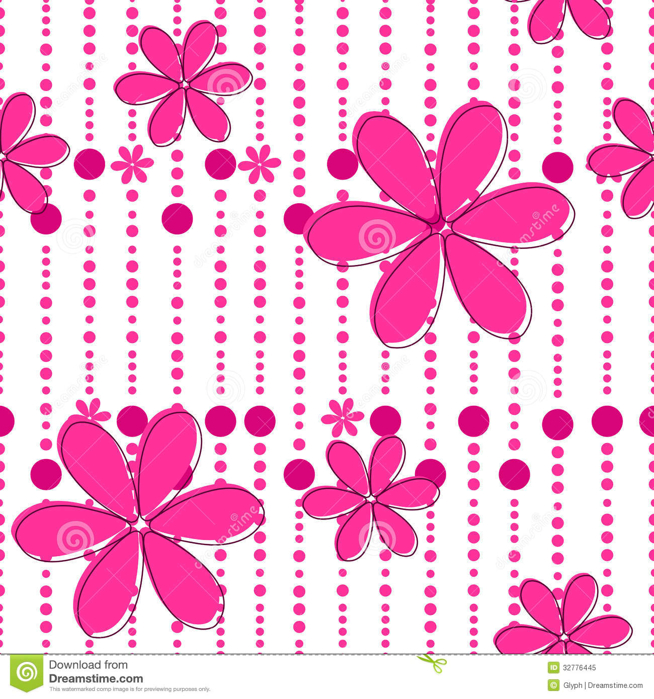 Seamless Cute Floral Background Stock Vector