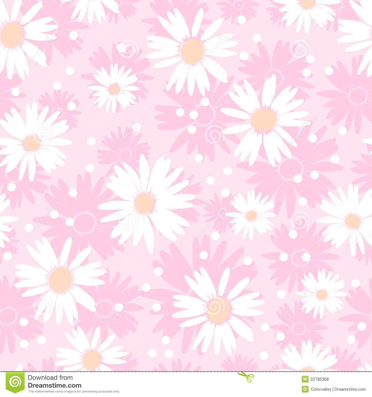 Seamless Cute Flower Background Royalty Free Stock Photos