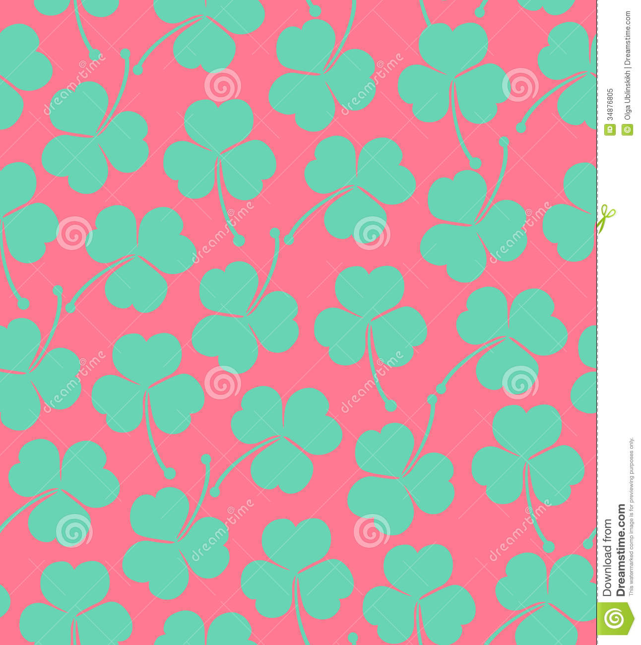 Seamless cute pattern with clover trefoil endless background seamless cute pattern with clover trefoil endless background texture for wallpapers packaging textile crafts voltagebd Image collections