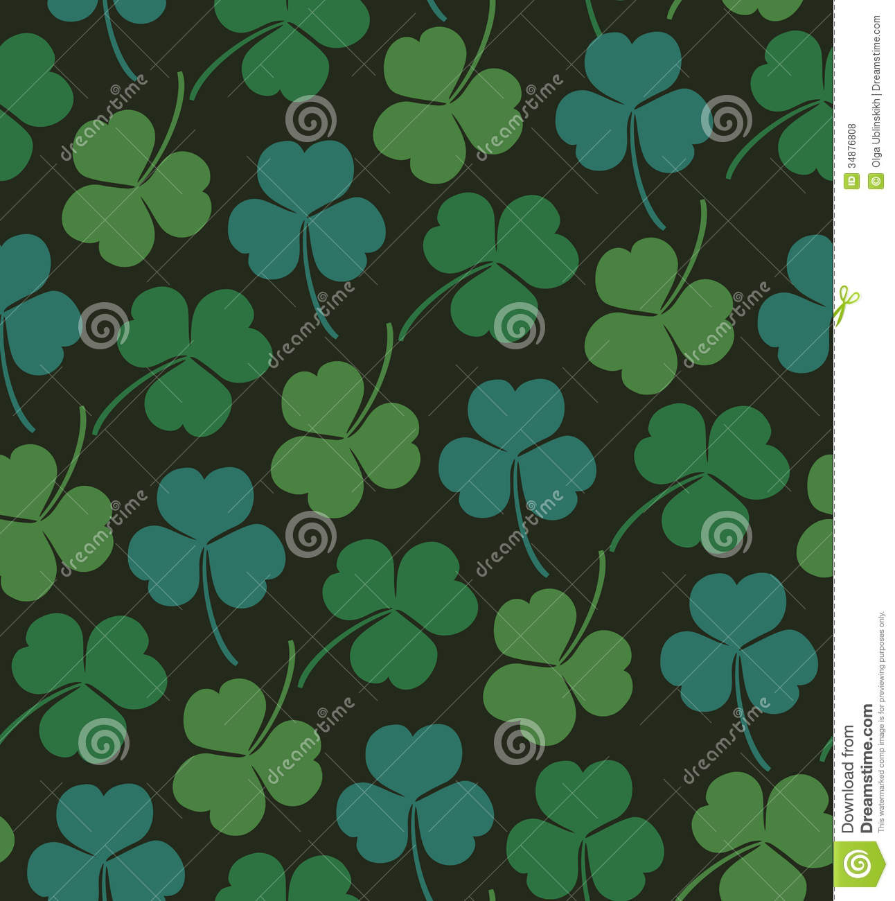 shamrock pattern wallpaper 1366x768 - photo #8