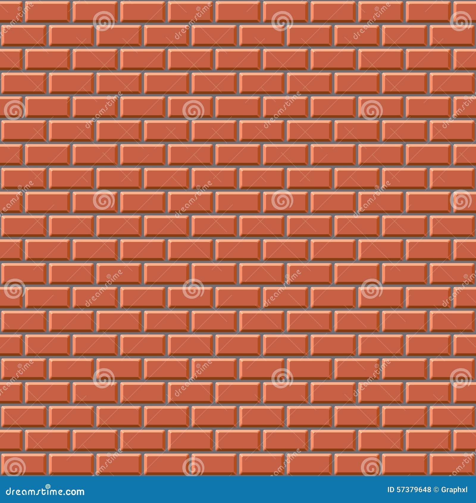 Seamless 3D brick wall texture