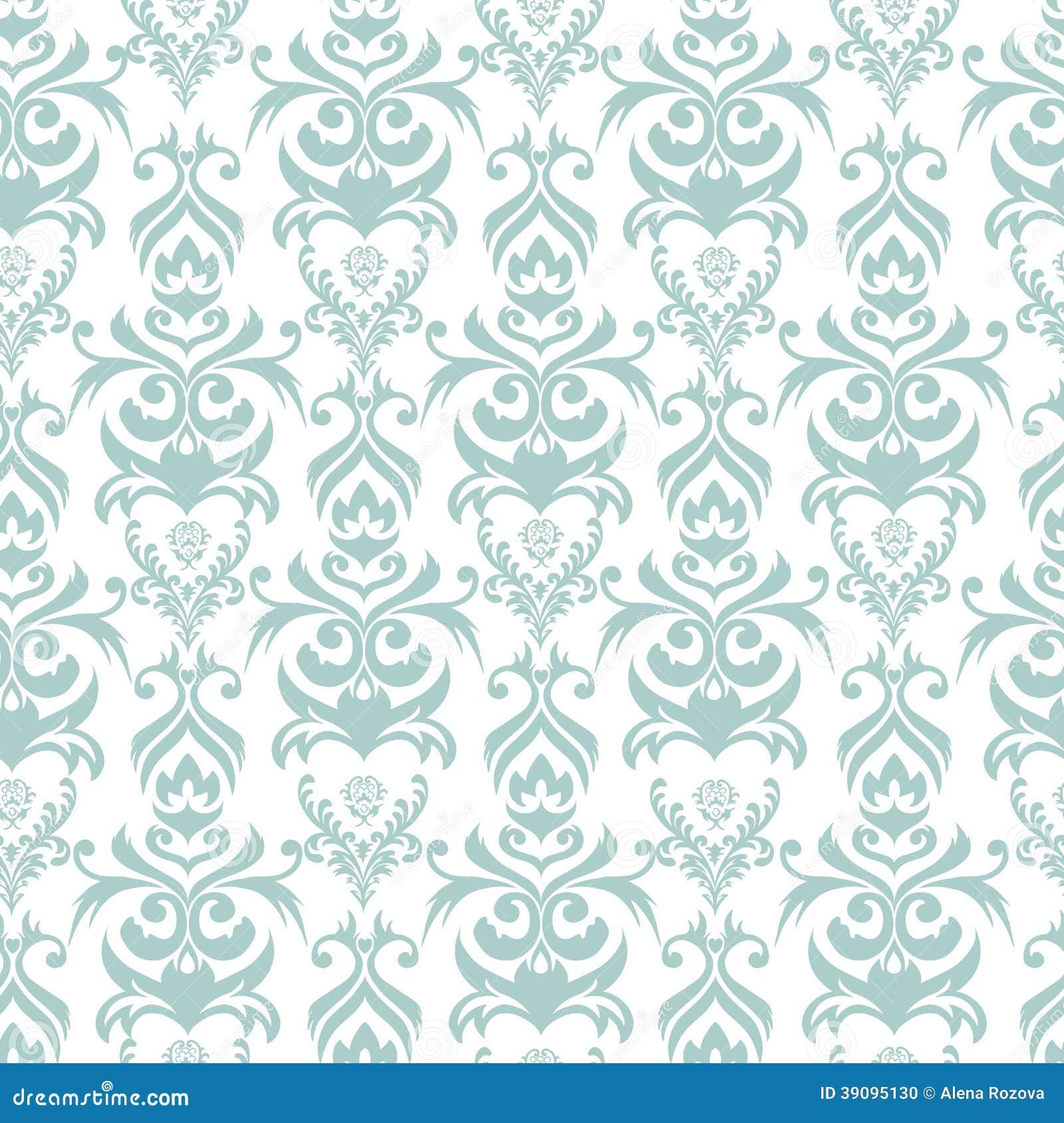 seamless damask background stock illustration image