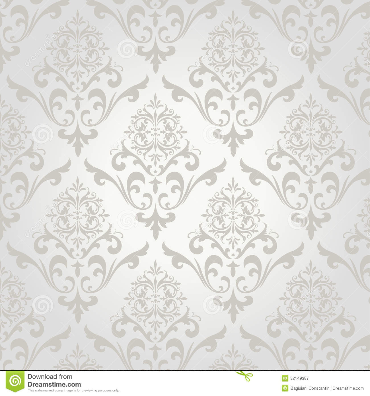 Seamless Damask Pattern Stock Vector Image Of Cool