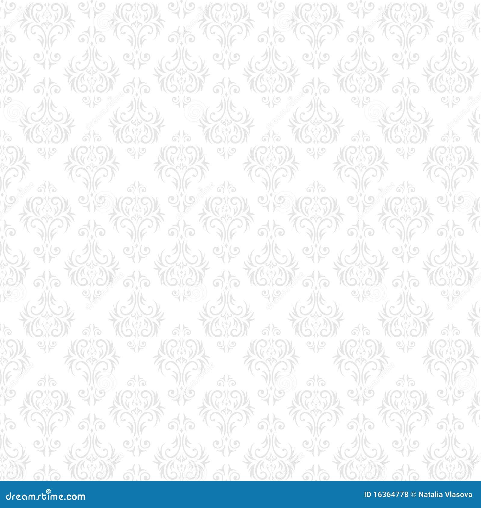 Seamless Damask Wallpaper Stock Vector Illustration Of Ornamental