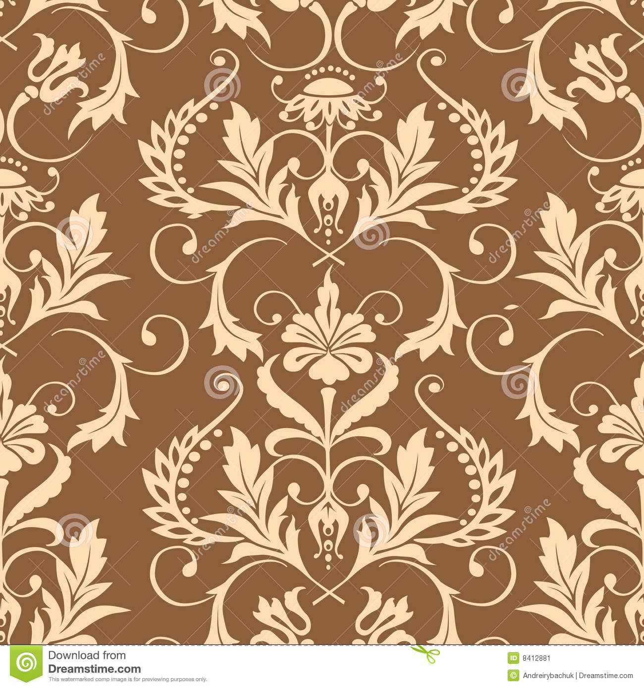 Seamless Damask Wallpaper French Baroque