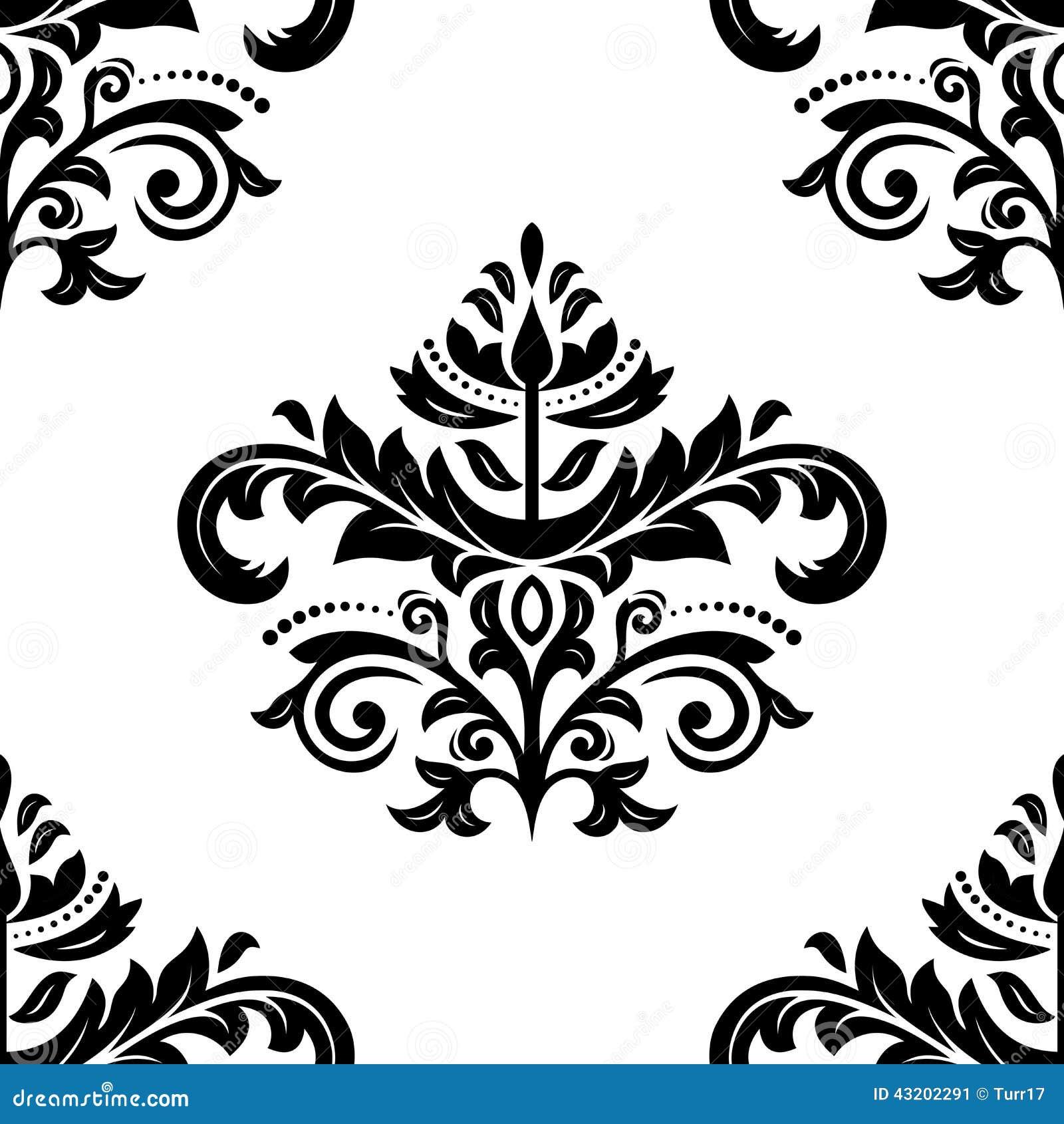 Download Seamless Damastast Modell Abstrakt Bakgrund Vektor Illustrationer - Illustration av textur, organiskt: 43202291