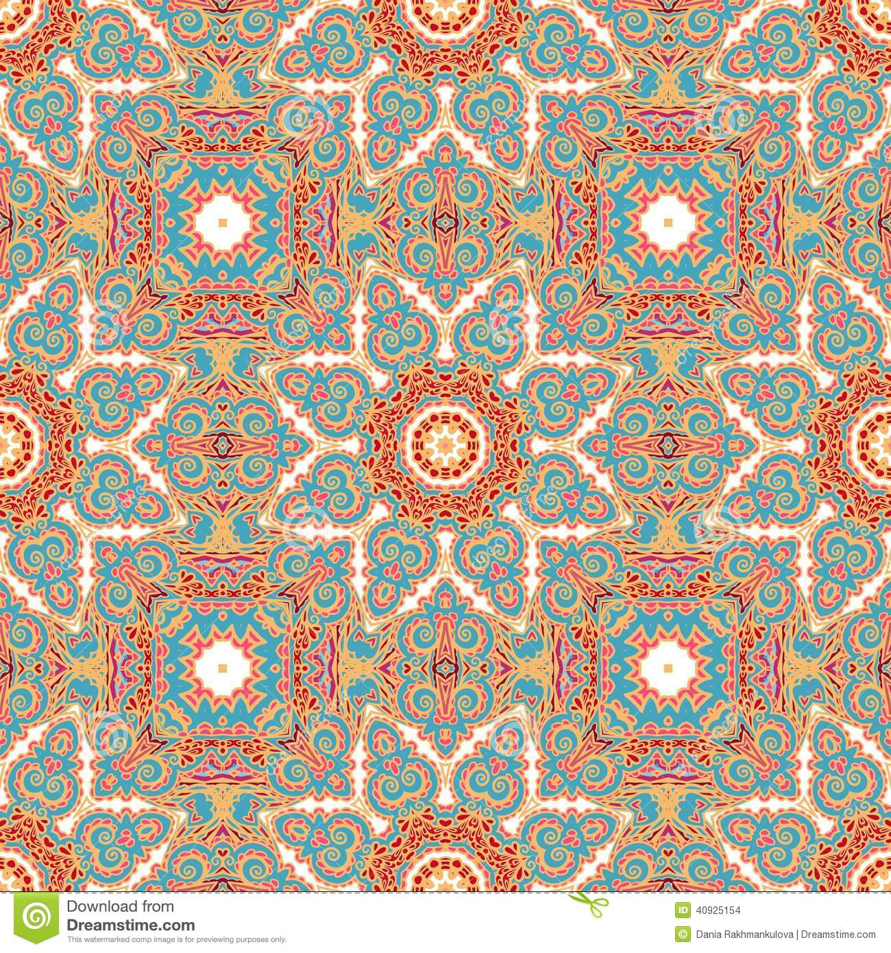 Seamless Decorative Pattern In Medieval Style Stock Photo
