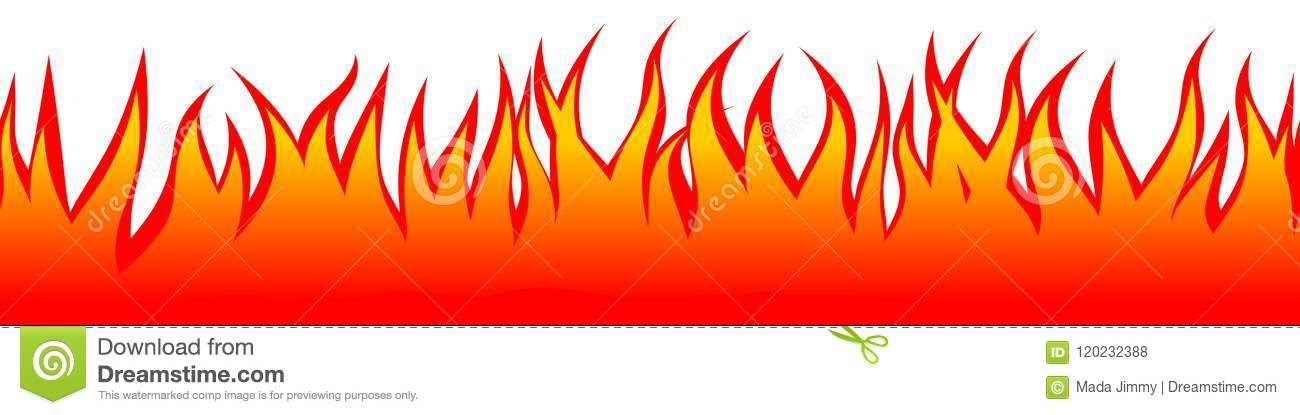 Seamless Fire Illustration Vector Isolated Background SVG