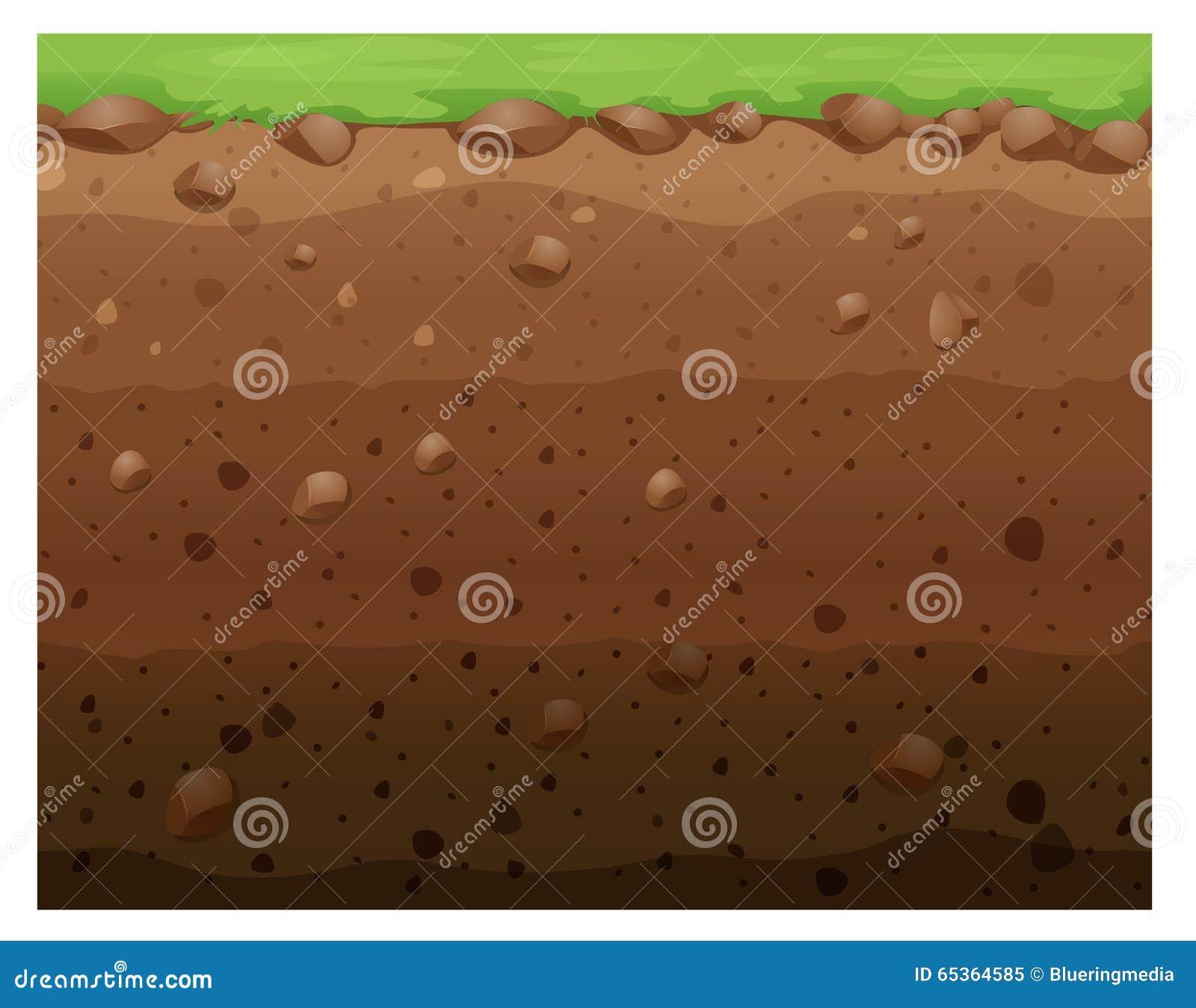 Underground Vector Seamless Design With G...