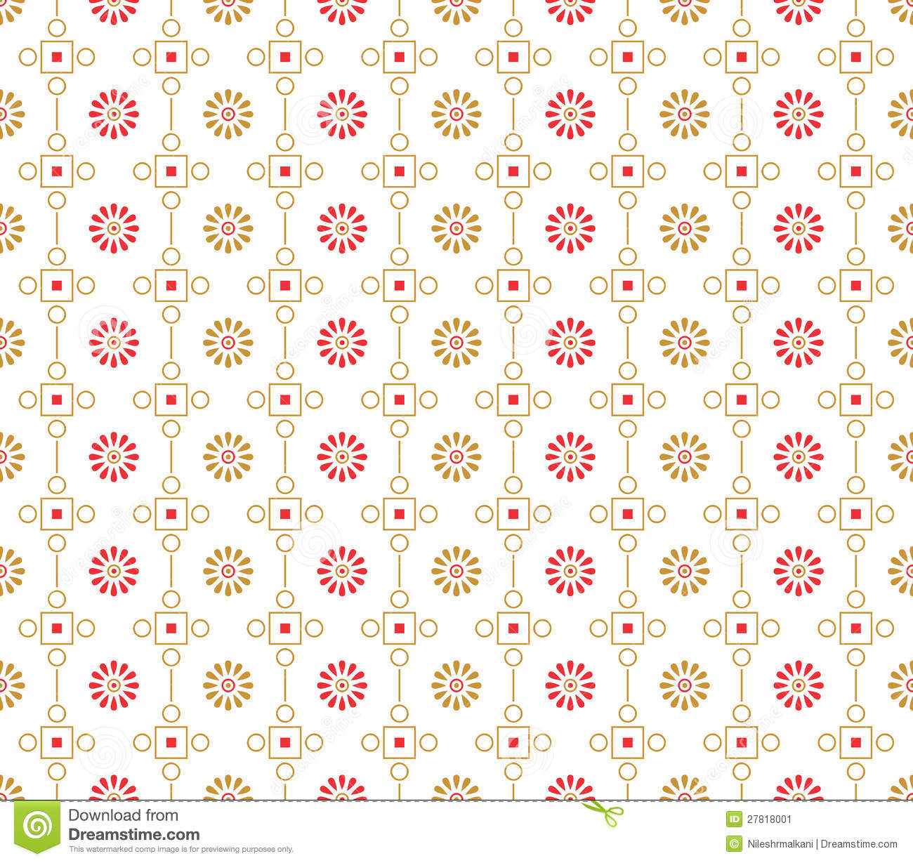 Seamless designer vector wallpaper and pattern.