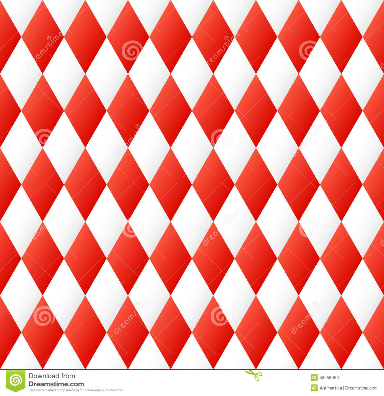 Seamless Diamond Pattern In Red And White Stock Vector