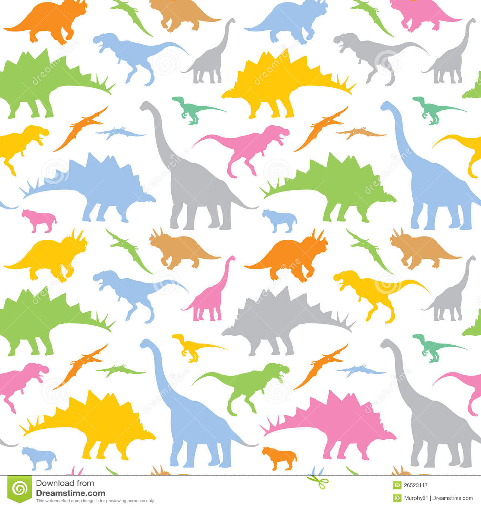 Seamless Dinosaur Pattern Royalty Free Stock Photography ...