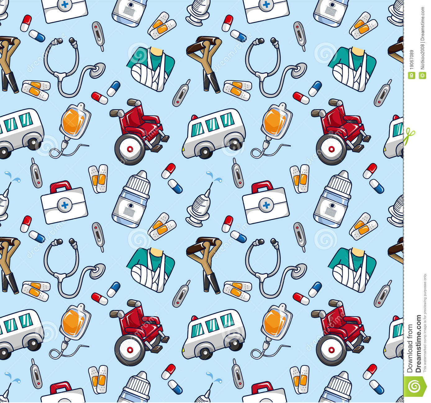 Seamless doctor pattern stock vector. Illustration of care ...