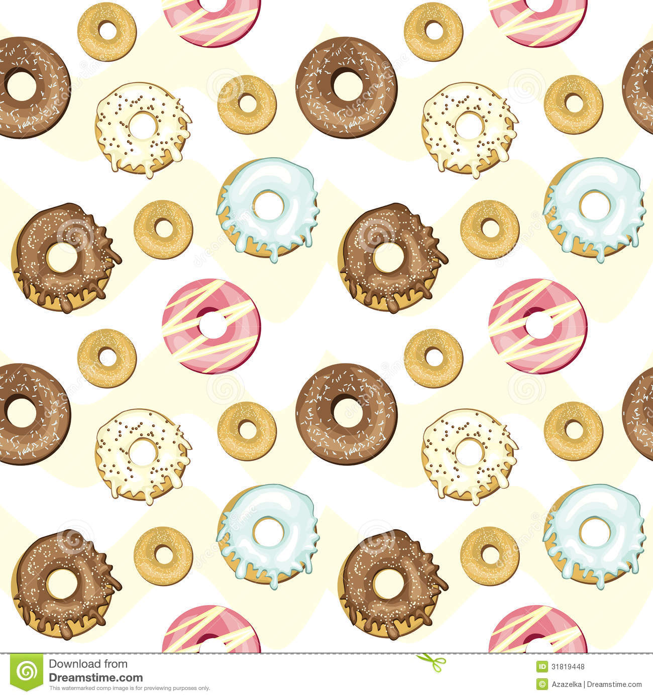 Seamless Donuts... Free Clipart Cupcakes