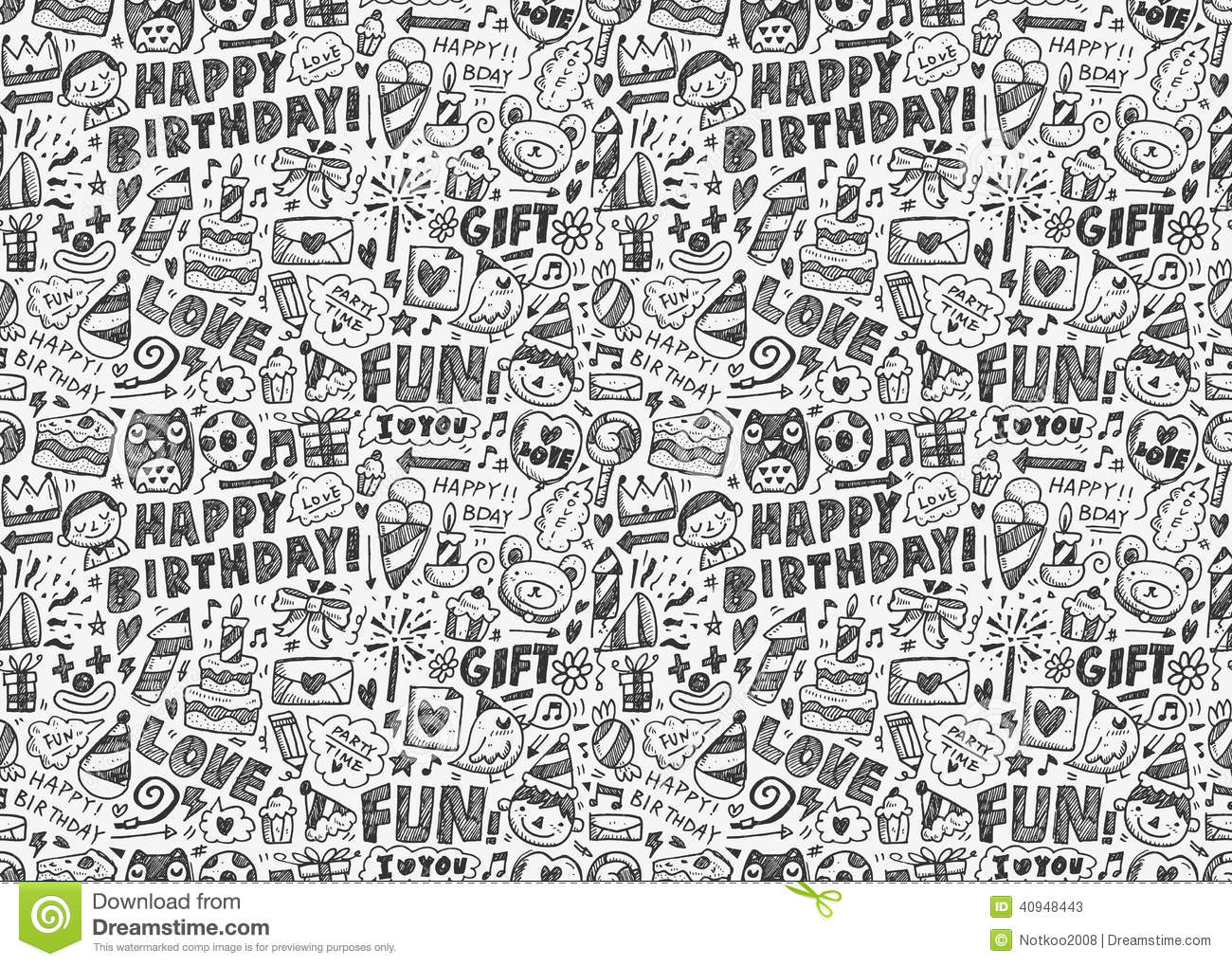 Birthday Cake Wallpaper Seamless