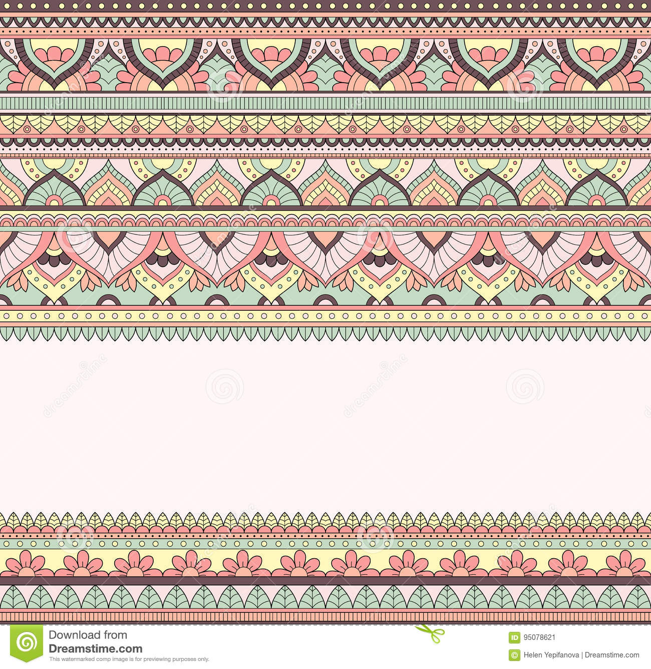 Seamless Doodle Illustration Zentangle Pattern Wallpaper