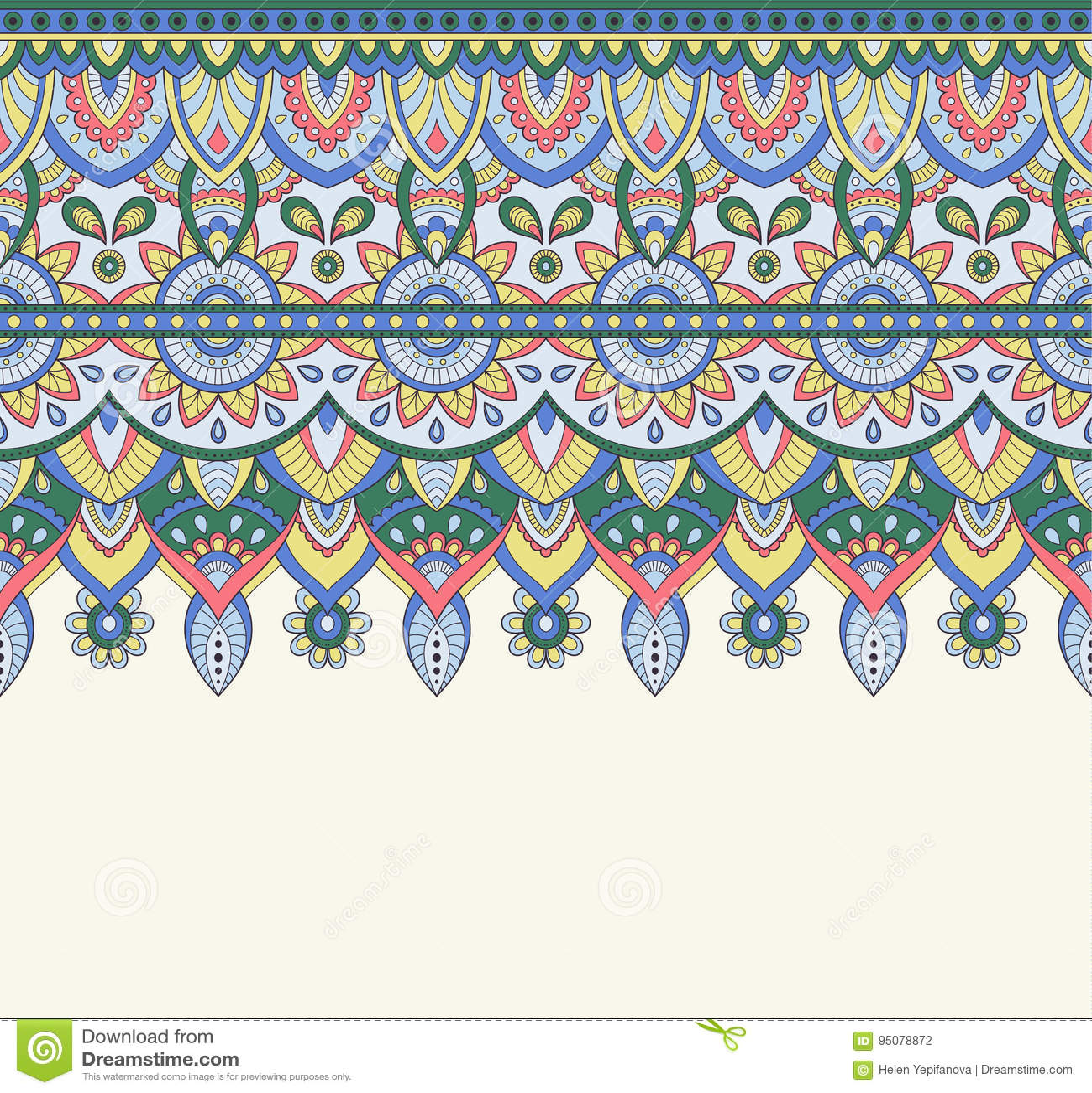 Seamless Doodle Illustration Zentangle Pattern Wallpaper
