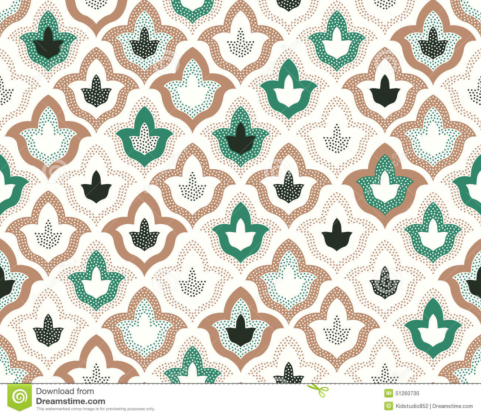 Geometrix Design Seamless Dots Islamic Pattern Stock Vector Image 51260730