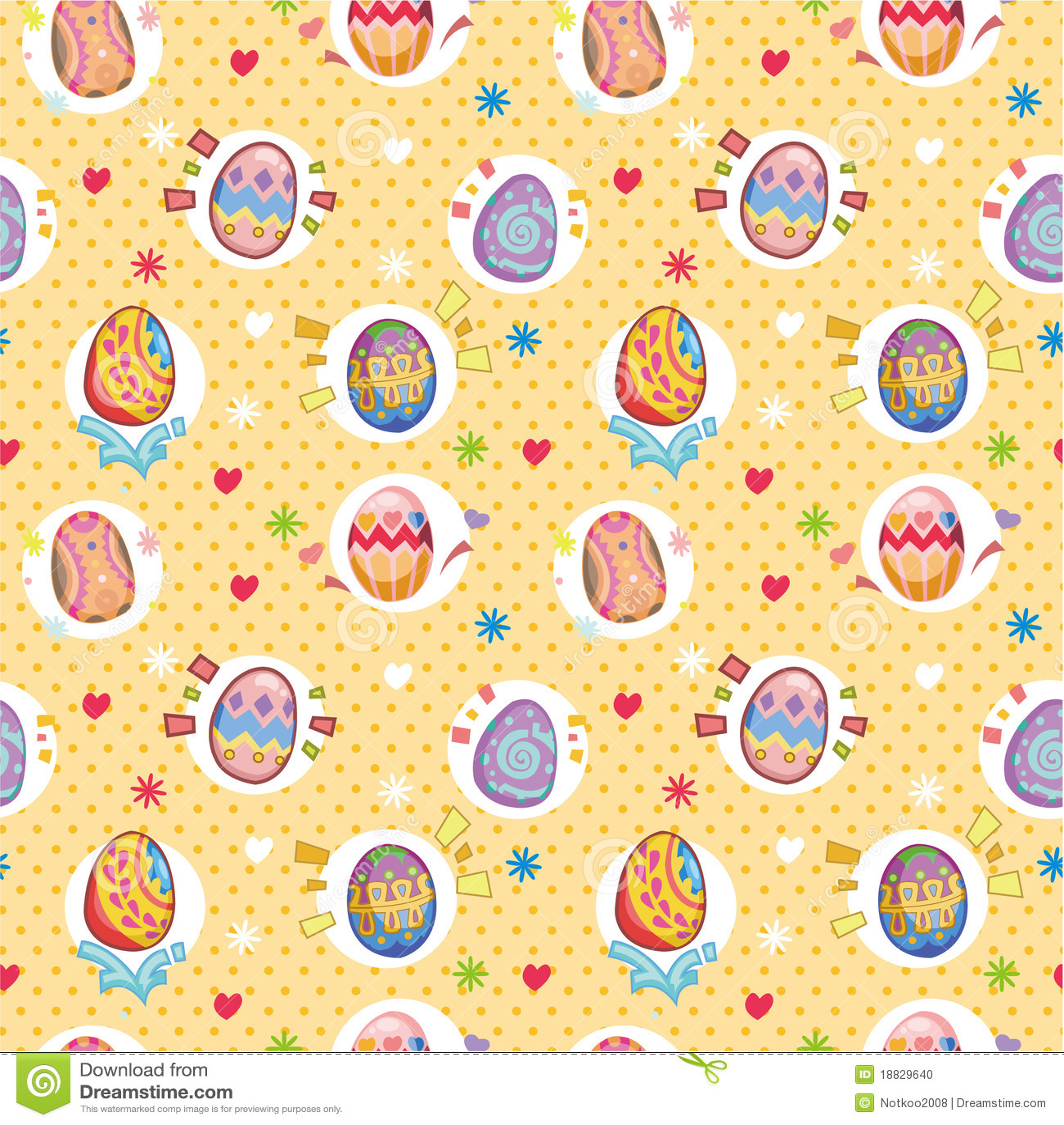 Seamless Easter Egg Pattern Stock Photo - Image: 18829640