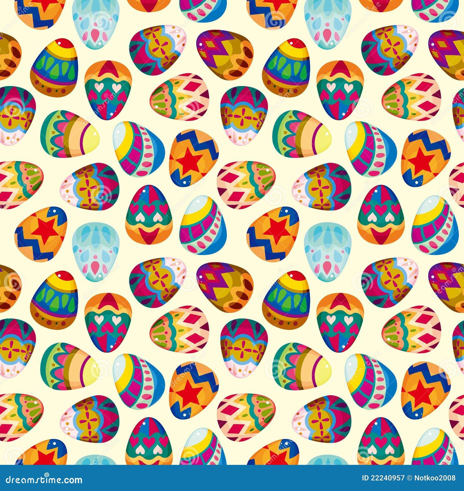 Seamless Easter Egg Pattern Stock Vector