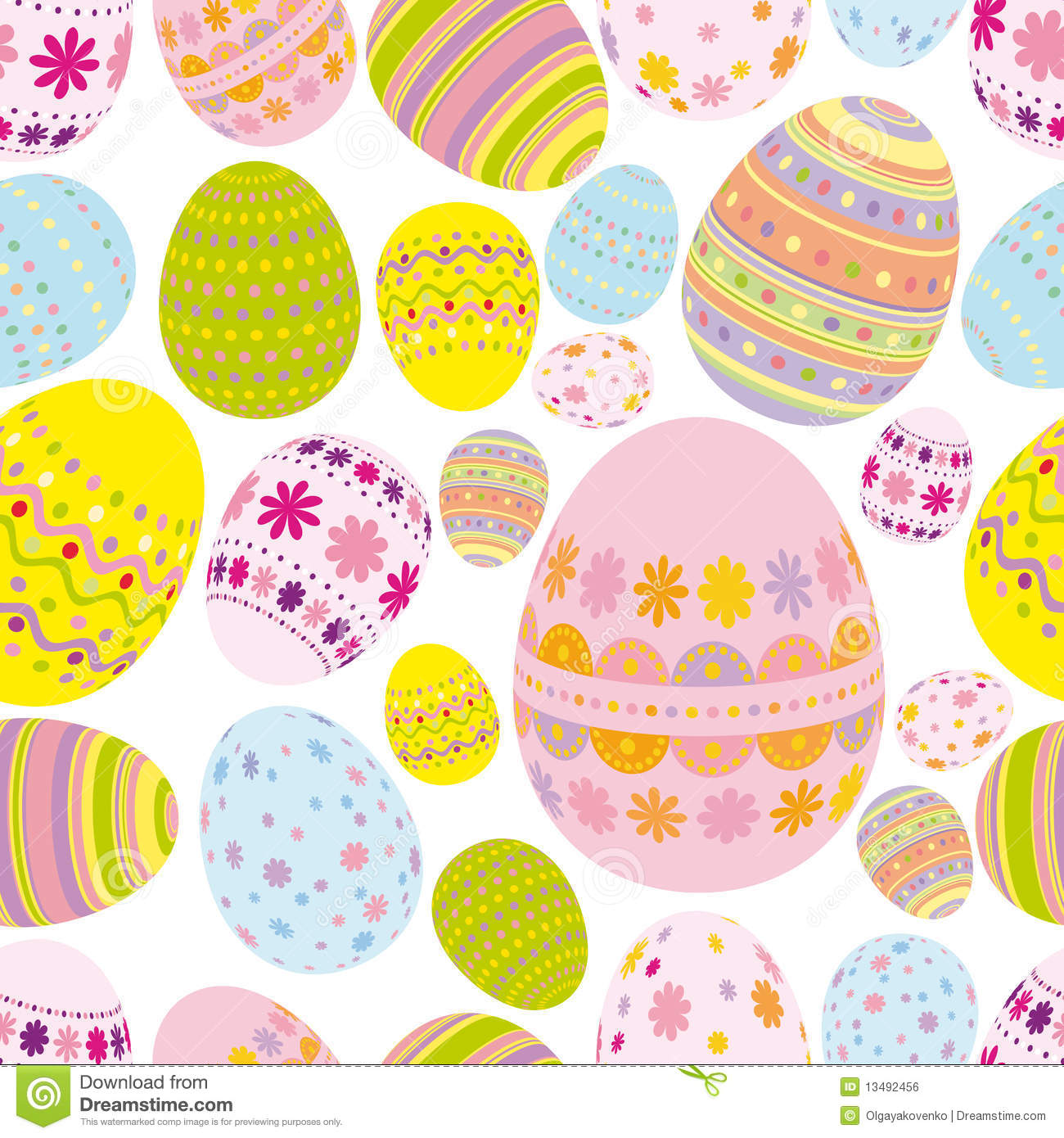 Seamless easter eggs background - an illustration for your design ...