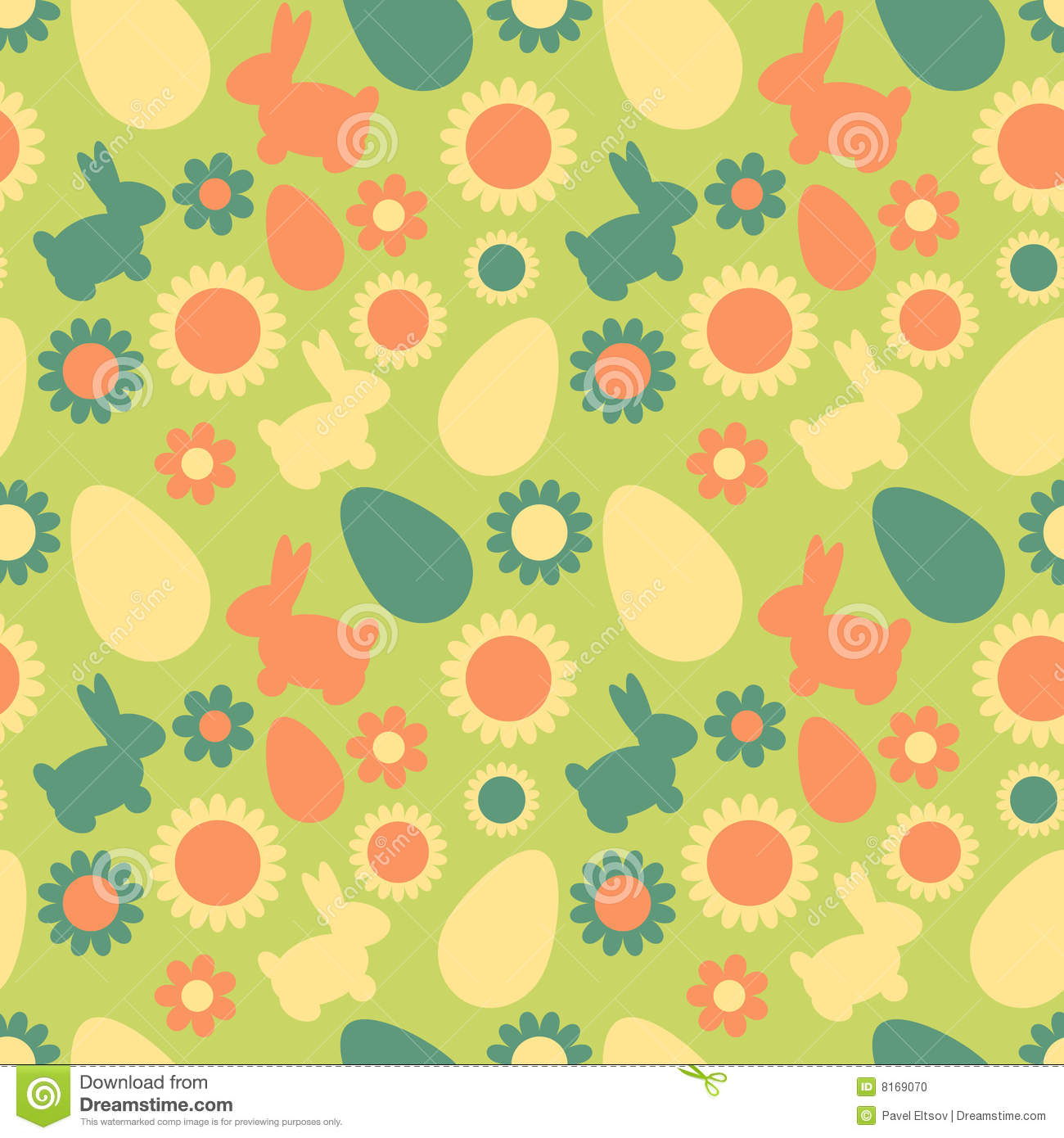 seamless easter pattern stock vector illustration of texture 8169070