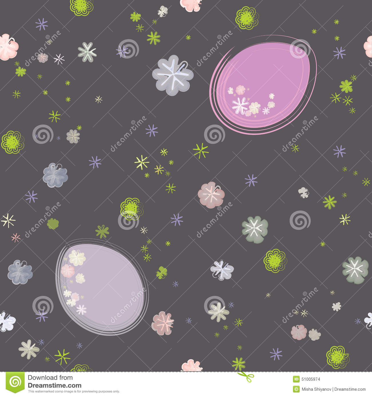 Seamless Easter Pattern Stock Vector Image 51005974