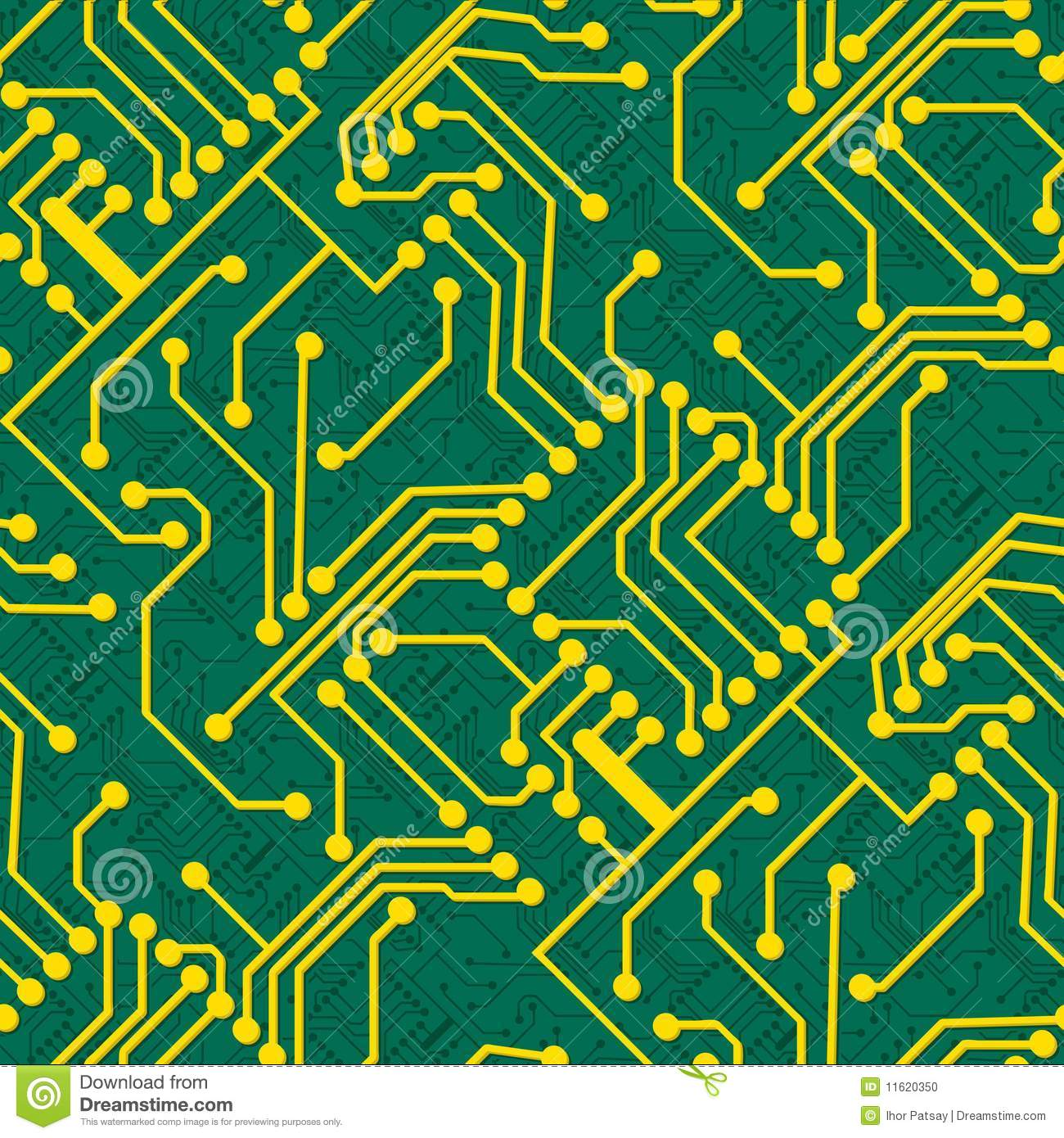 Electronic Pattern Making : Seamless electronic pattern stock photo image
