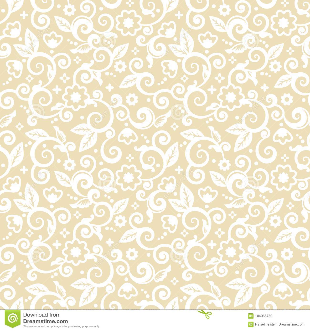 Seamless Elegant Abstract Floral Pattern Stock Vector