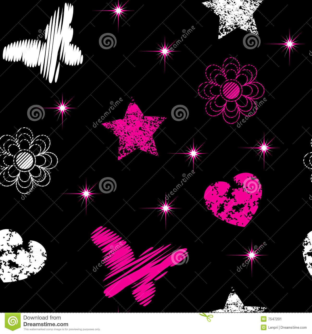 Seamless From Emo Symbols Stock Image