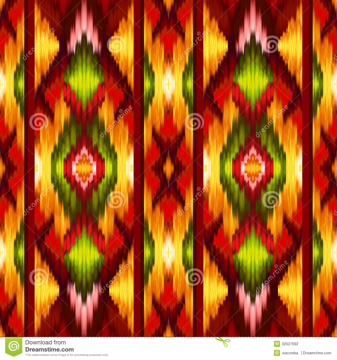 Seamless ethnic intricate ikat pattern background stock - Ikat muster ethno design ...