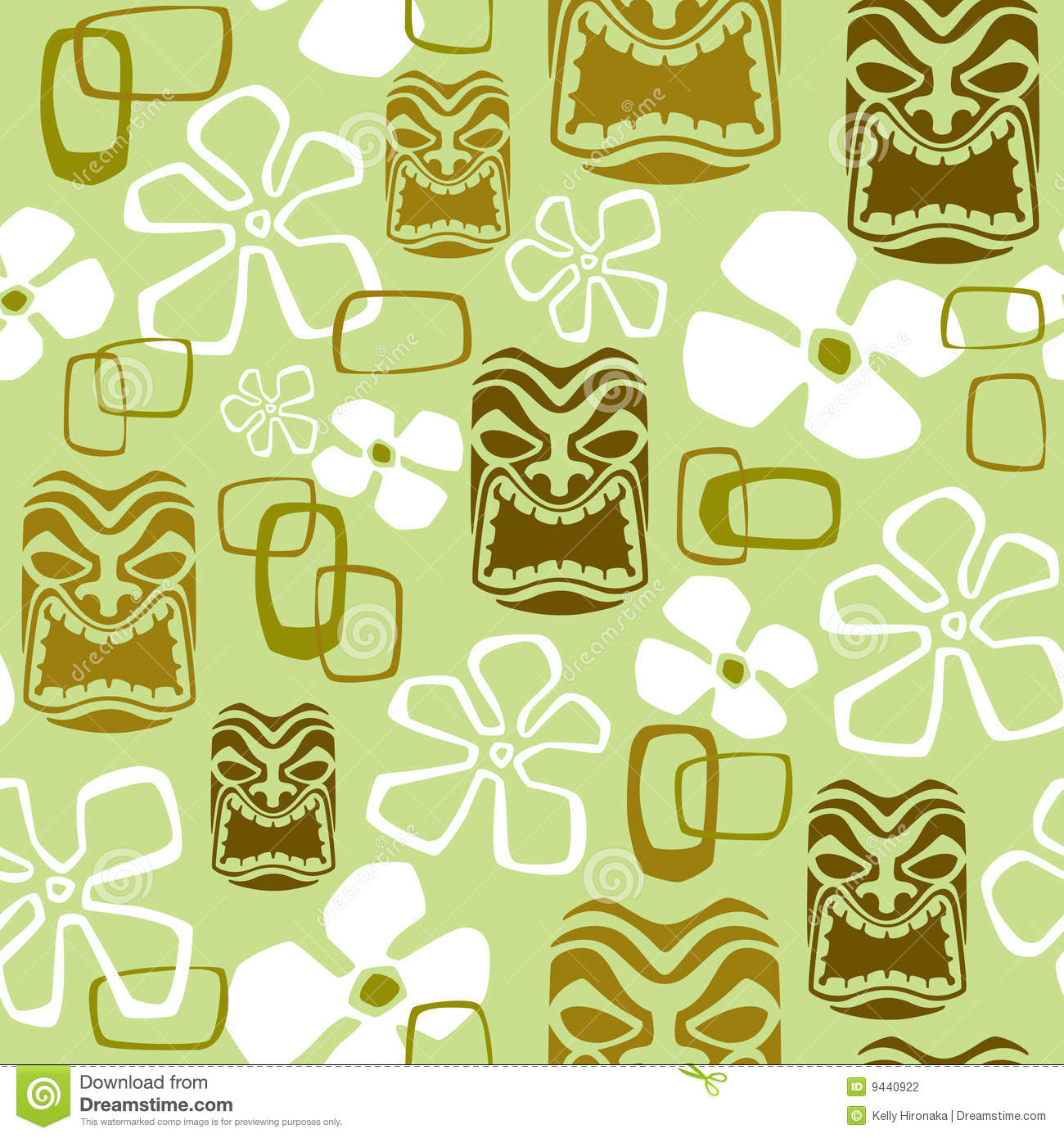 Seamless Exotic Tiki Paradise Pattern Stock Vector
