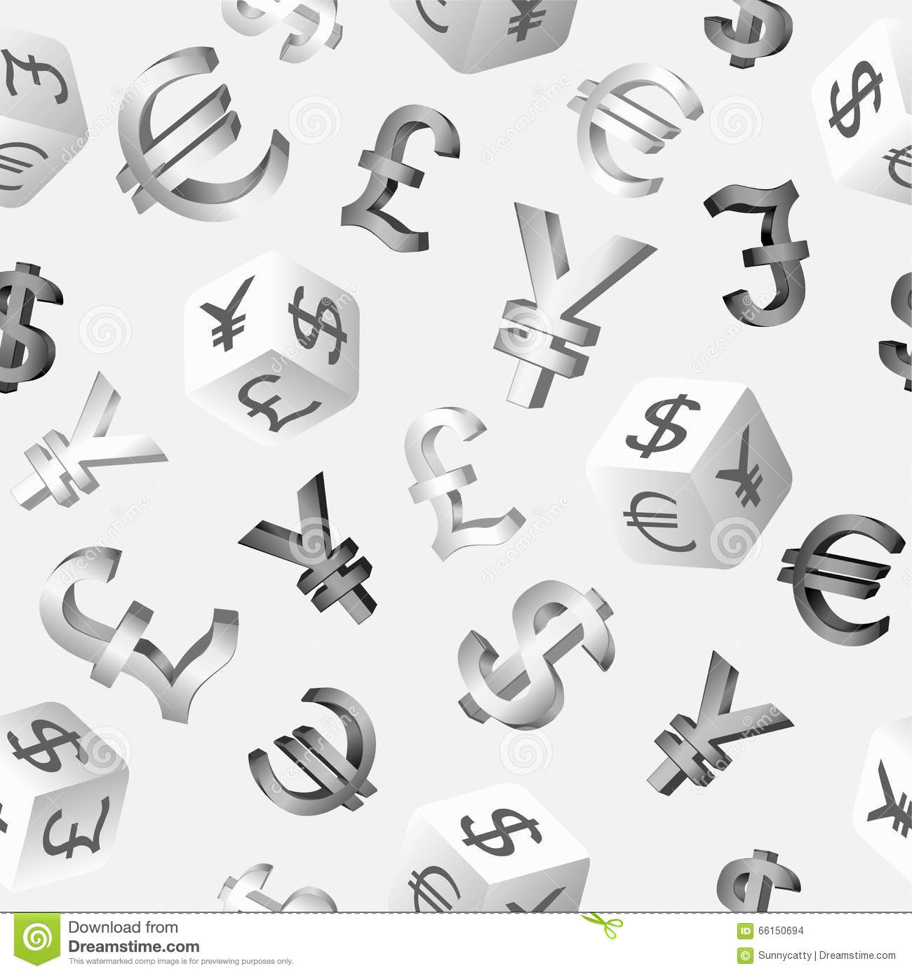 Seamless finance background with currency symbols dollar euro seamless finance background with currency symbols dollar euro pound yen yuan vector illustration biocorpaavc Image collections