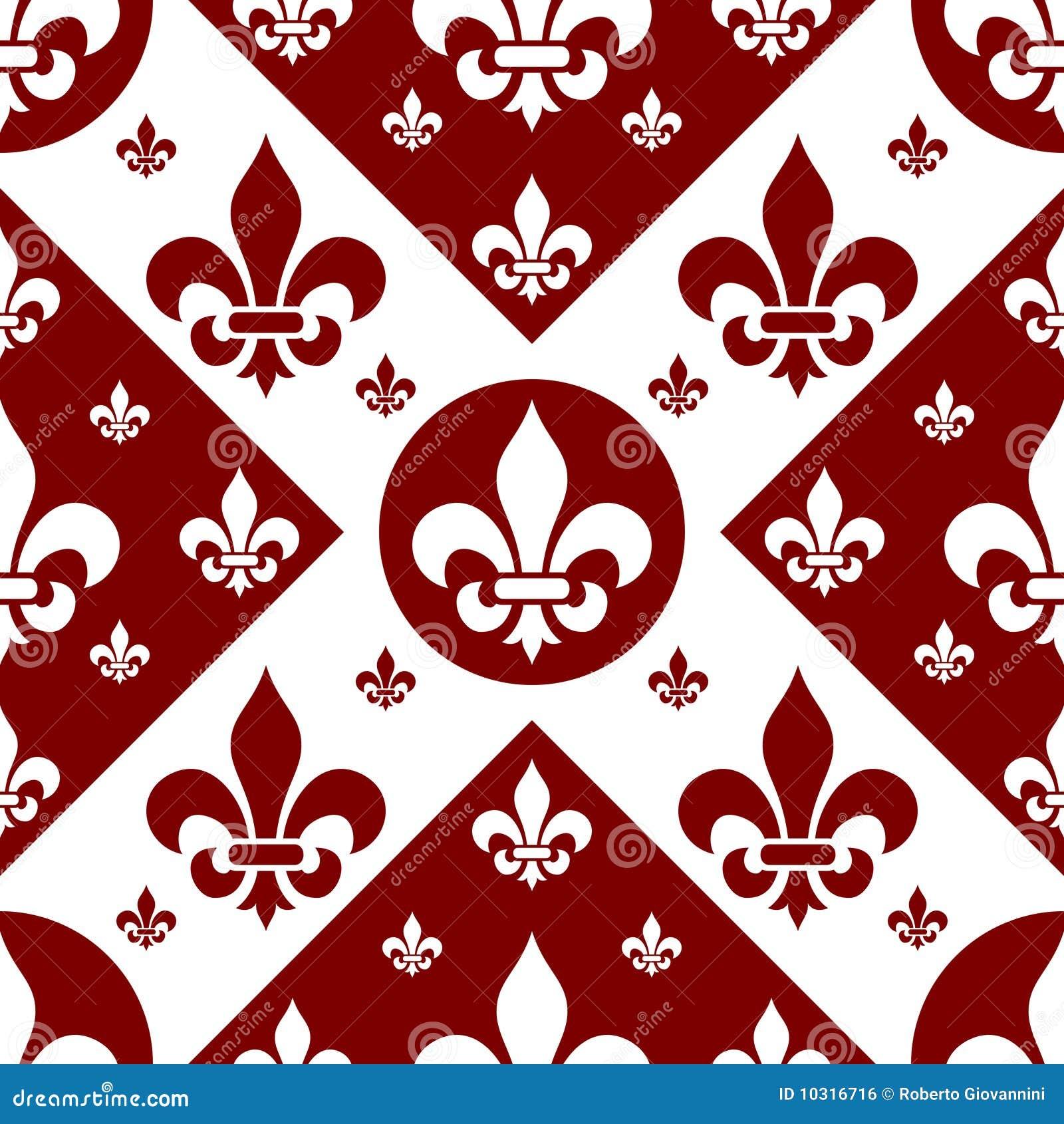 Seamless Fleur De Lys Tile 2 Royalty Free Stock Image