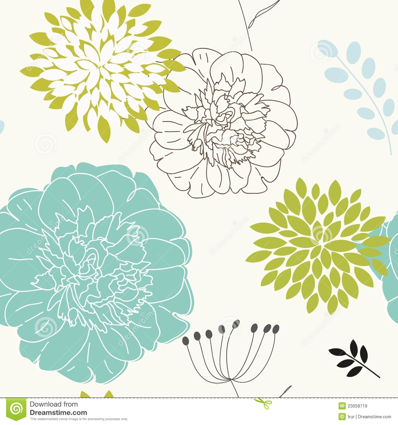 Seamless Floral Background Royalty Free Stock Images - Image: 23058719