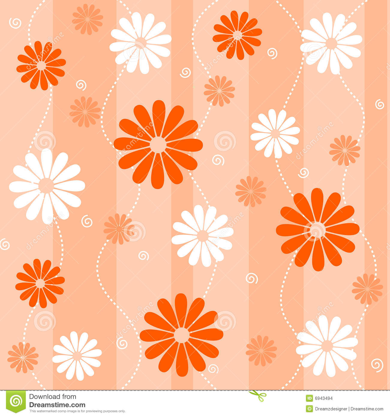 Seamless floral background stock vector. Illustration of banner ... for Background Pattern Light Orange  181pct