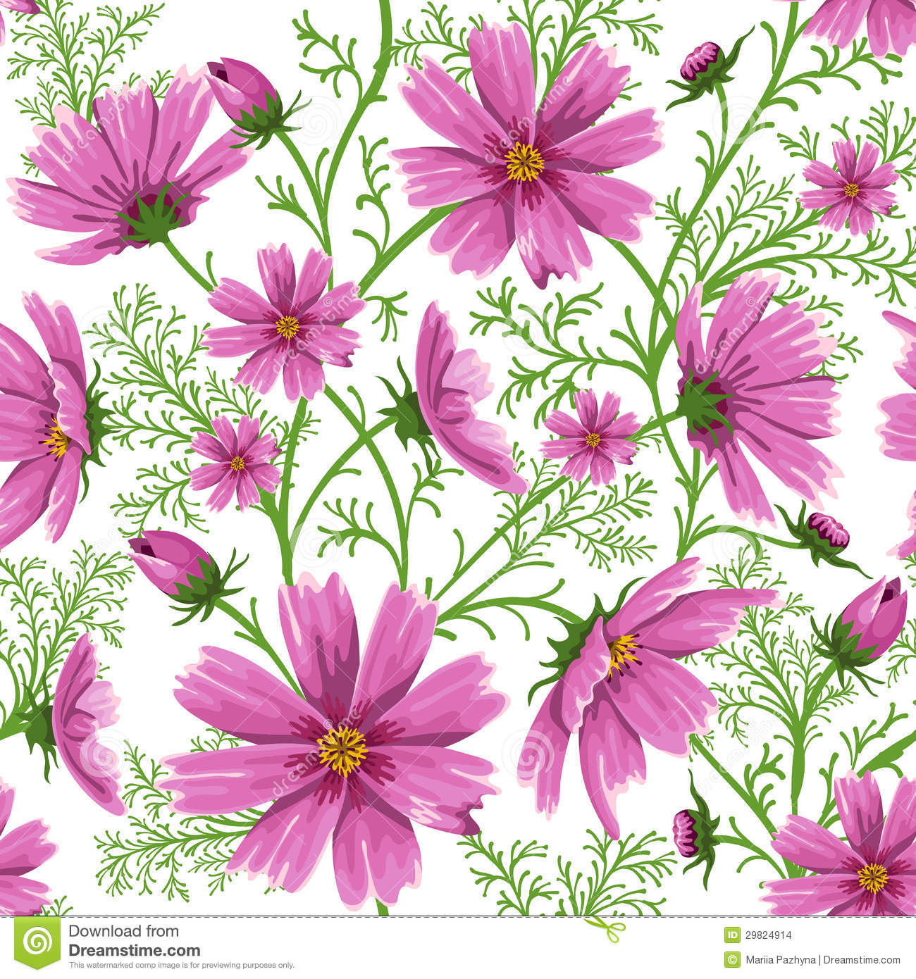 Seamless Floral Background Stock Vector Illustration Of Nice