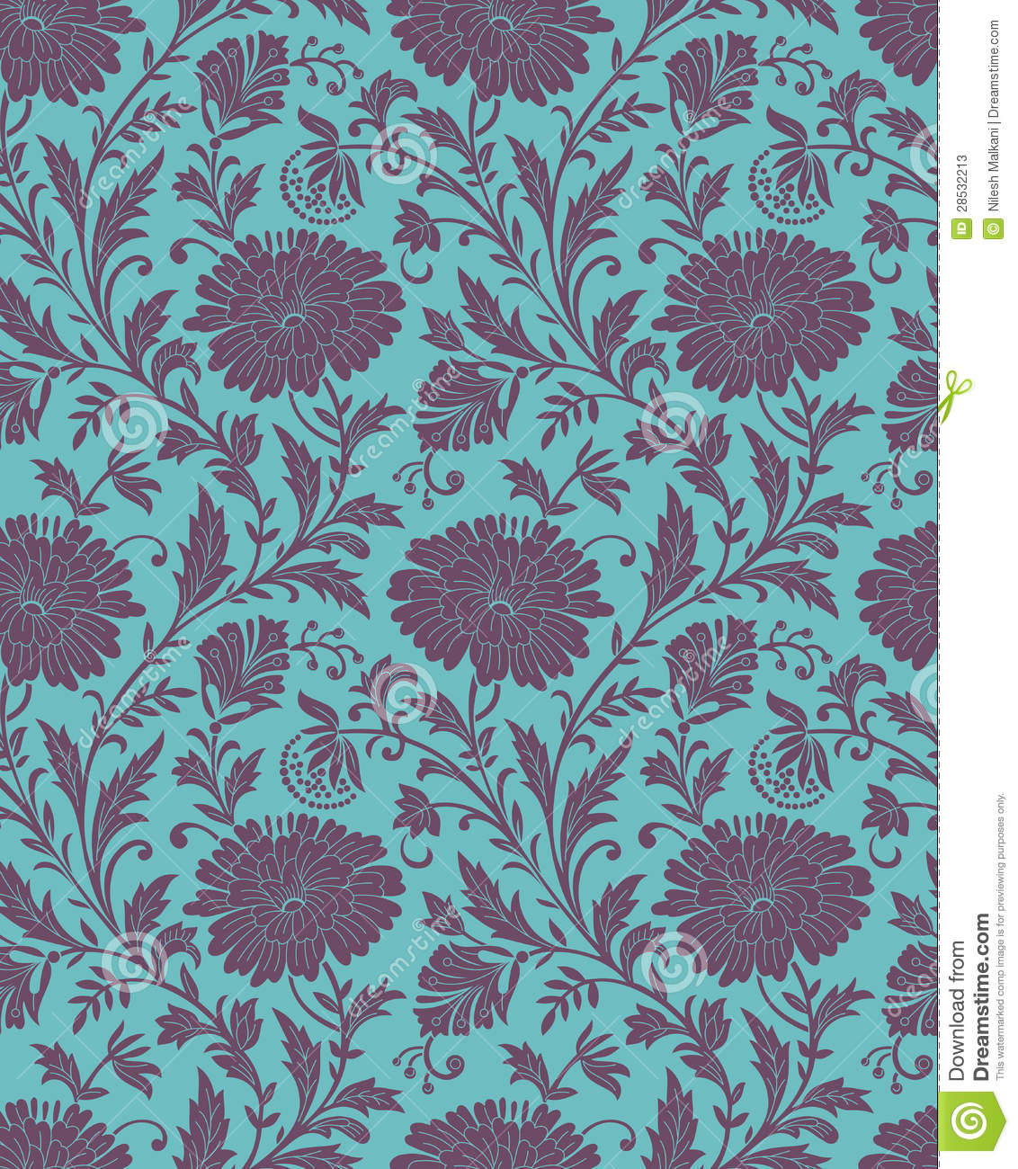 Seamless-Floral background for fabric