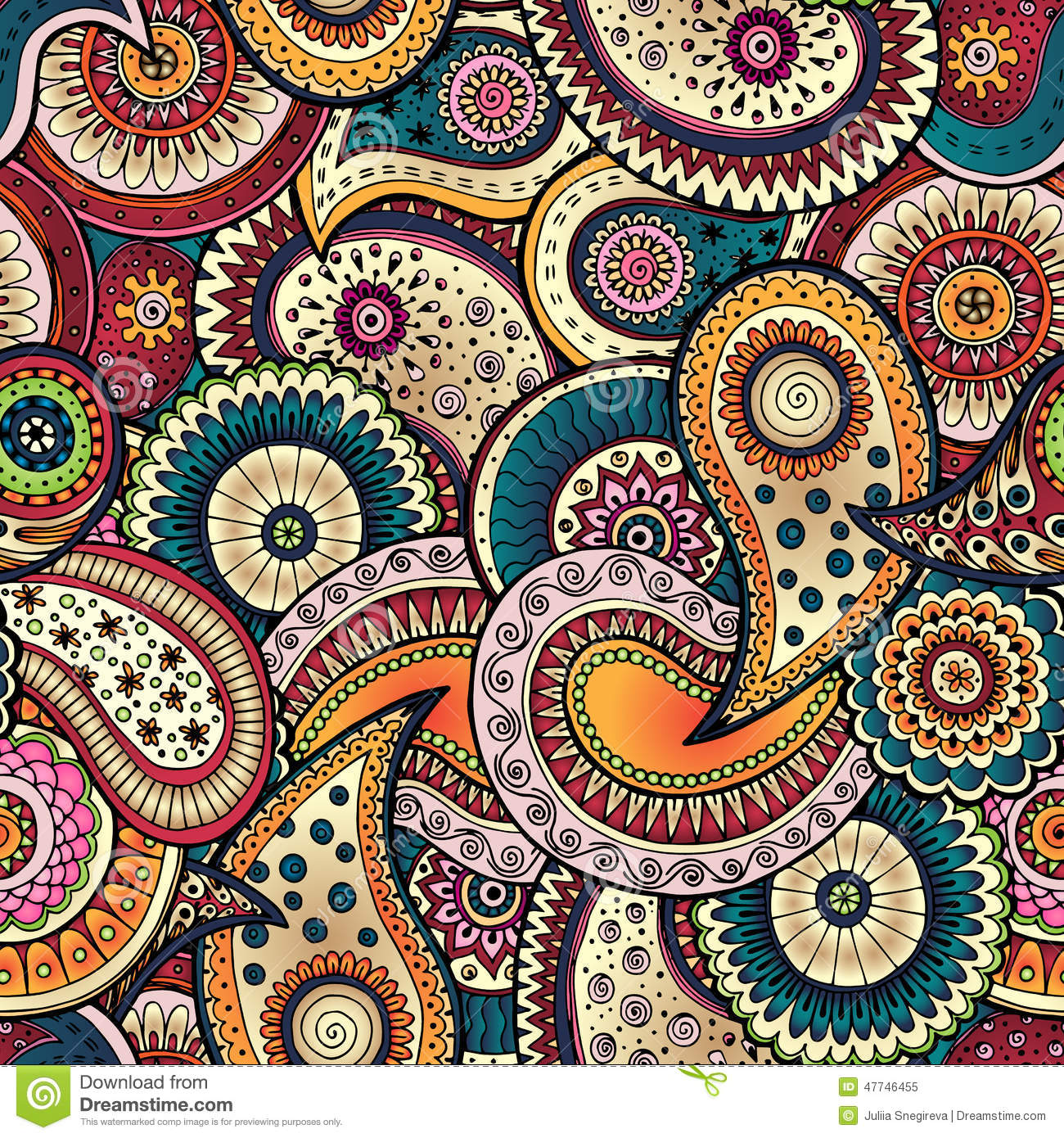 Batik Background Vector Seamless floral background pattern in vector ...