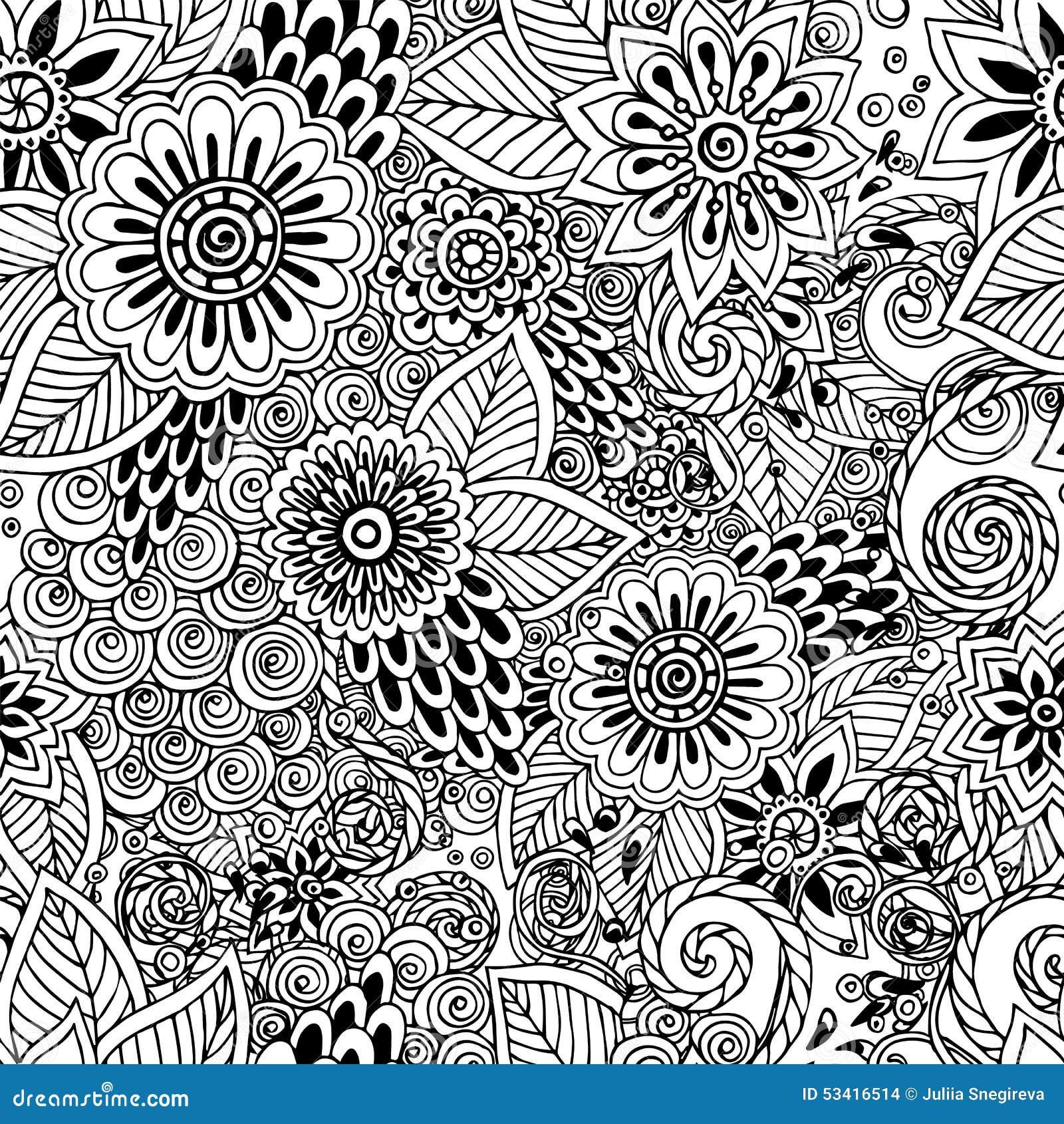 Раскраски узоры на весь лист