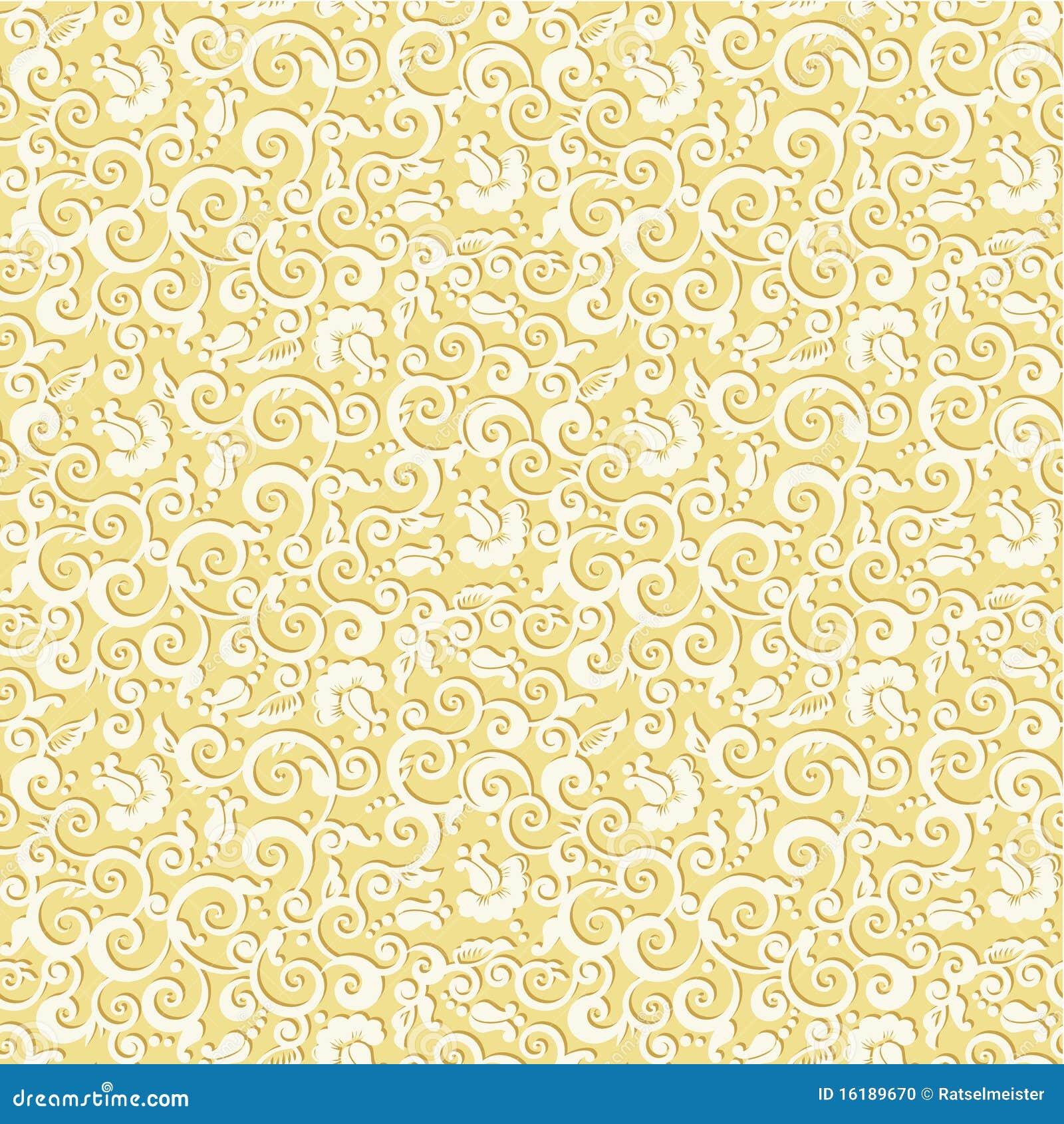 cream gold damask wallpaper