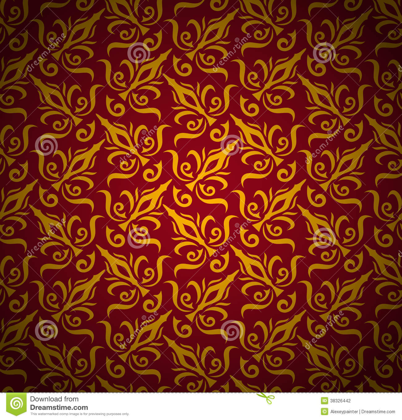 Seamless Floral Pattern Background Damask Luxury Royal Style