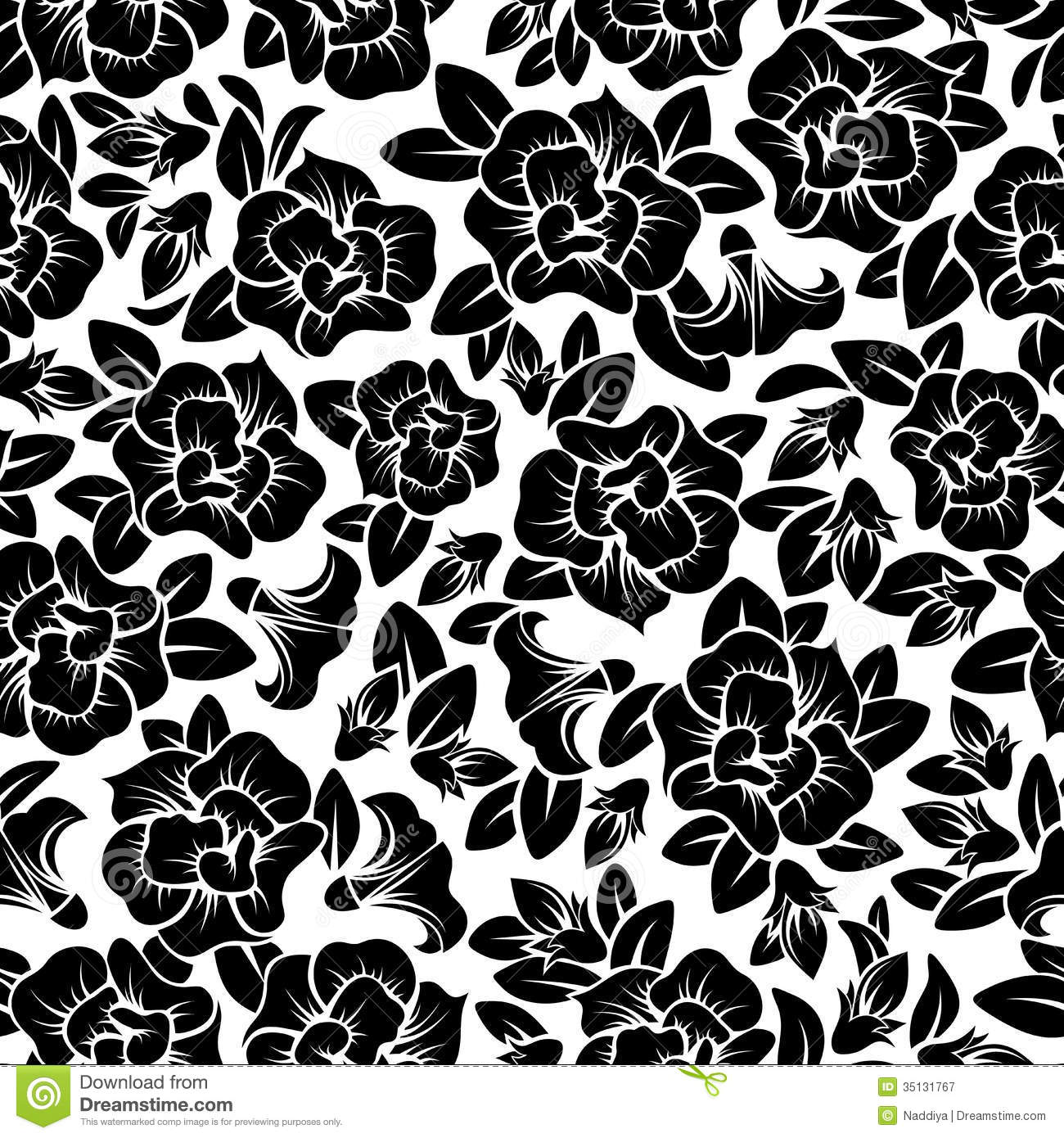 Seamless Floral Pattern Stock Vector Illustration Of Flora