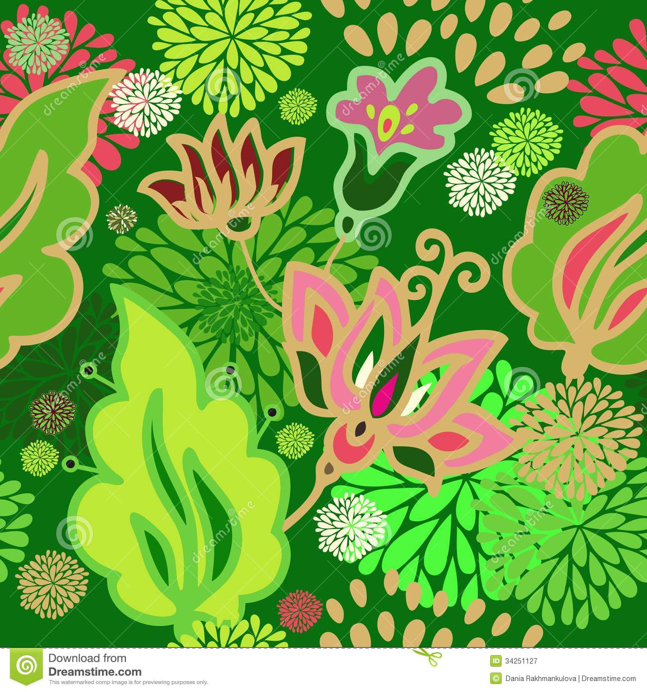 Seamless Floral Pattern Stock Image. Image Of Floral
