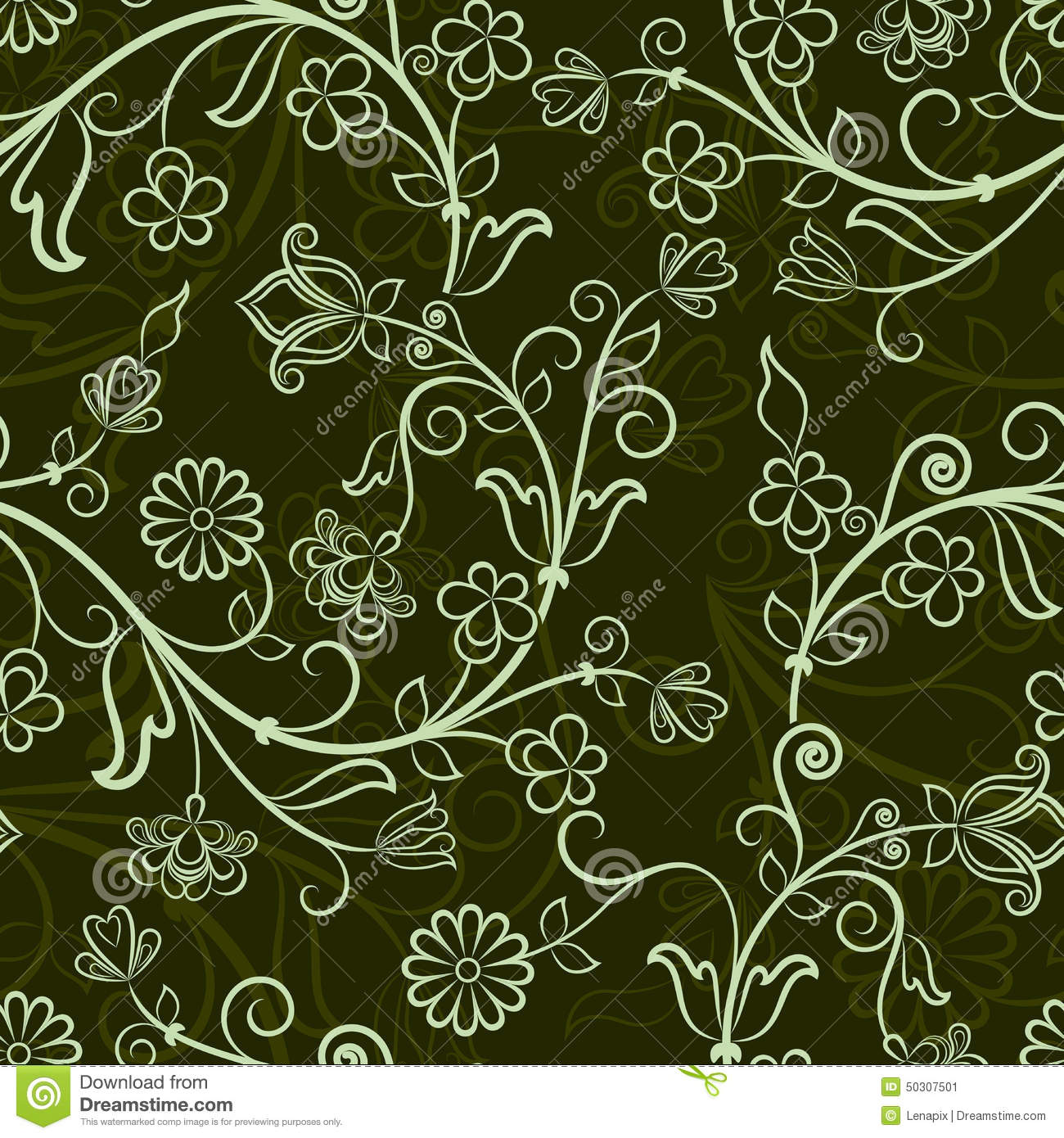 Seamless Floral Pattern Stock Vector Illustration Of Decor