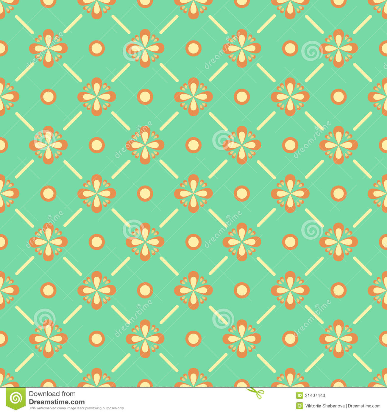 seamless floral pattern with geometric stylized flowers stock photos - Decorative Paper