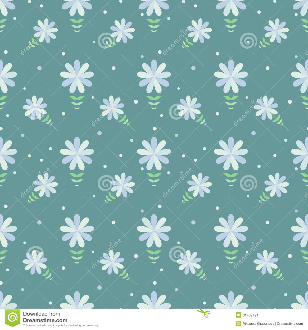 Seamless floral pattern with geometric stylized flowers for Paper wallpaper designs