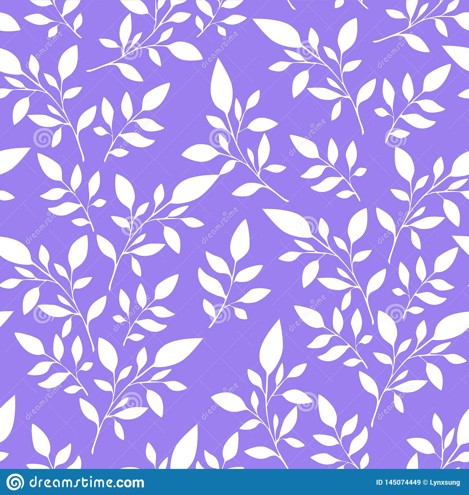 Floral pattern with leaves can be used for textile printing or background, wallpaper, ad, banner